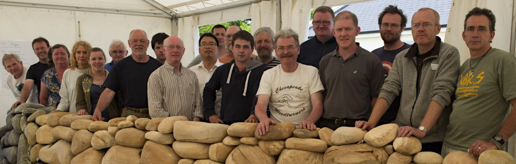 Participating in the Wood Art Collaboration May/June 2013 at Glenn Lucas Woodturning Study Centre: Michael Brolly USA, Christian Delhon France, Sharon Doughtie USA, Art Liestman Canada, Mark Sanger England, Neil Turner Australia, Jacques Vesery USA, Louise Hibbert Wales, Brendan Hogg Ire, Brid O'Halloran Ire, Ambrose O'Halloran Ire, John Lee Ire, Xiang Dong Wang China, Glenn Lucas Ire, Roger Bennett Ire, Emmet Kane Ire, Liam Flynn Ire, Alan Meredith Ire, Cillian Ó Súilleabháin Ire, Adam Doran Ire, Liam O'Neill Ire, Terry Martin Australia