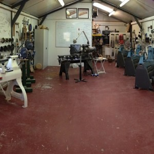 Workshop set up for Masterclass at Glenn Lucas Woodturning Study Centre