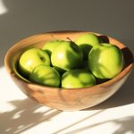11 inch beech bowl with apples