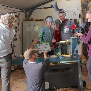 Glenn Lucas and children July 2015 for RTE with crew