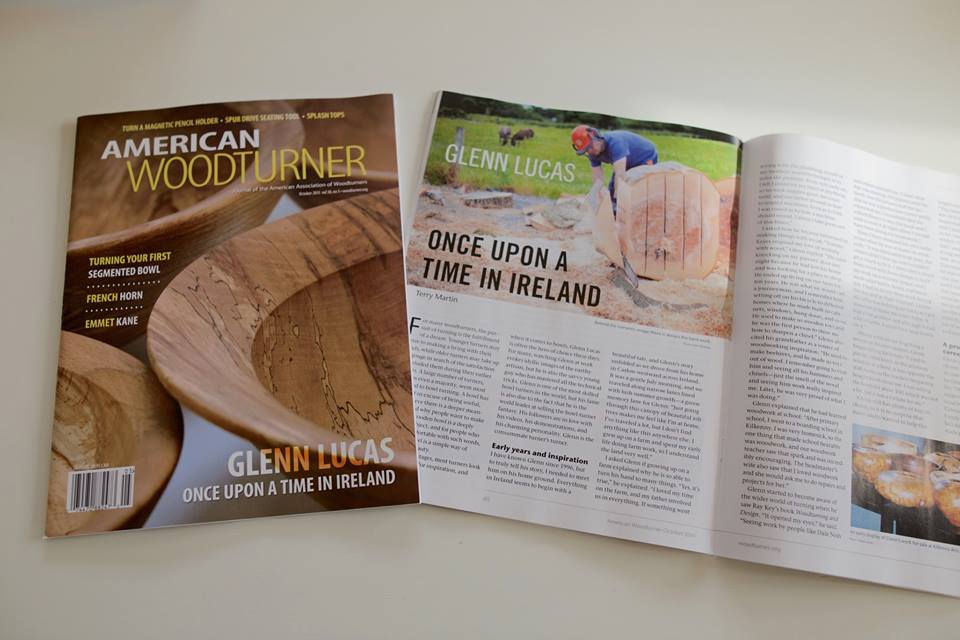 American Woodturner Oct issue 2015 with article about Glenn Lucas