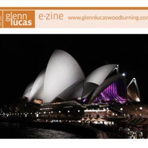 ezine cover for Glenn Lucas woodturning May 2017