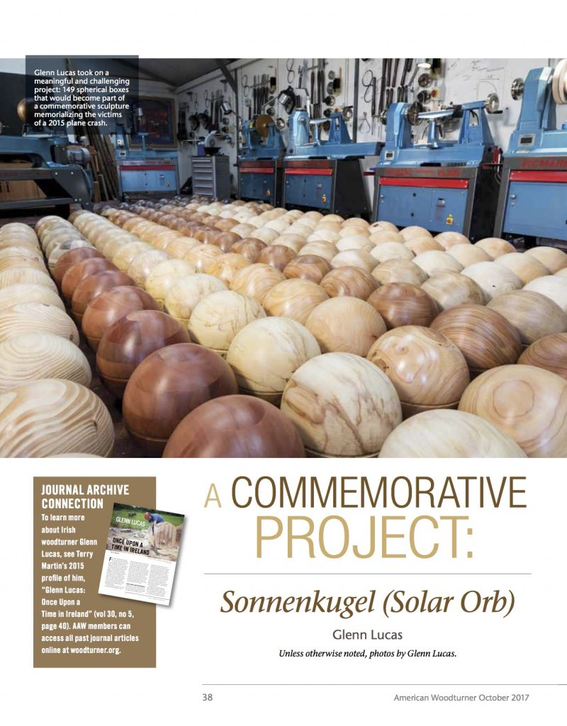 page 1 SolarOrb_Glenn Lucas first published in Oct 2017 in American Woodturner, the journal of the AAW